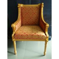 Золоченое резное кресло