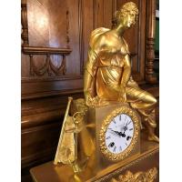 """Каминные бронзовые часы """"Навигация"""""""